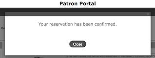 reservation confirmed